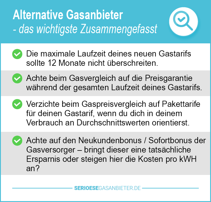 Alternative Gasanbieter
