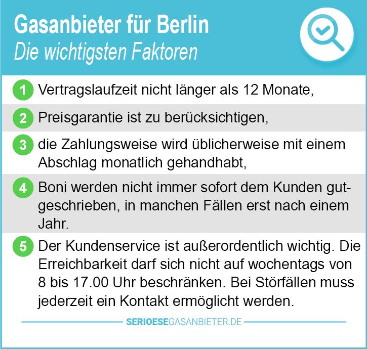 Gasanbieter Berlin nur Gasherd