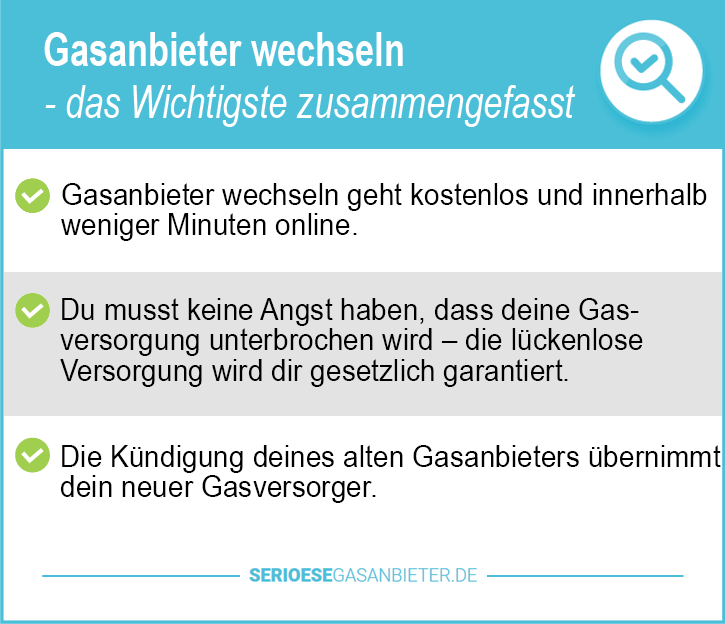 Gasanbieter Vergleich Deutschland