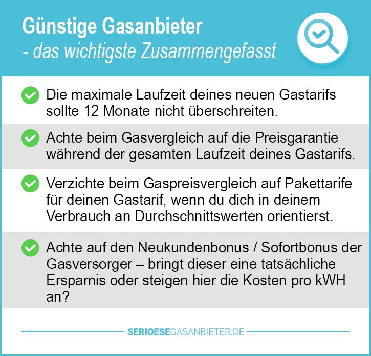 Günstige Gasanbieter Bayern